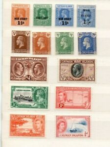 A very nice unused Cayman Islands group from 3 Reigns