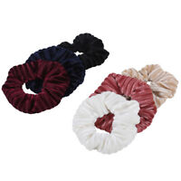 2PCS Women Scrunchies Elastic Hairband Hair Tie Rings Rope Band Ponytail Holder