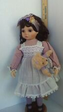"""The Hamilton Collection- Heritage Dolls By Kay McKee """"ShyViolet"""" 1991."""