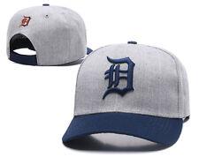 Detroit Tigers Baseball MLB Unisex Hat Cap Grey & Navy Peak AU Stock