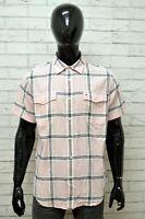 Camicia TOMMY HILFIGER Uomo Taglia L Maglia Camicia Shirt Man Cotone a Righe