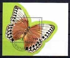 Papillons Laos (7) bloc oblitéré
