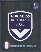 PANINI UEFA CHAMPIONS LEAGUE 2008-09- #162-BORDEAUX TEAM BADGE-SILVER FOIL