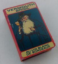 protège boîte allumettes Vermouth Briol en métal lithographié