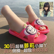 xz50  female(little girl) Silicone Fake Foot,Inner-Bone Inside 18cm 30# 1pair