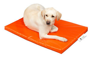 "Dog Bed Cage Crate Matt Chew Resistant Waterproof Tough Durable Orange 5cm 2"""