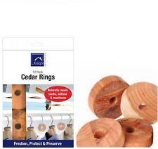 12Pk 100% Natural Cedar Wood Anelli GUARDAROBA ANTI TARME muffa Repellente Deterrente