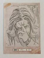 Topps Walking Dead Evolution ONE-OF-A-KIND Hand Drawn Sketch Card - Wolves 1/1!