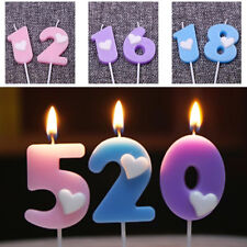 Digital Candle Number Birthday Cake Topper Heart Fashion New Party Decoration