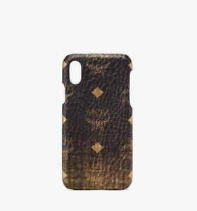 MCM iPhone XS/X Cell Phone Case in Gold Gradation Visetos mze9avi48dg001