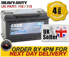EA900 Exide 115 Heavy Duty 110 Car Battery - 4 Year Warranty - Next Day Delivery