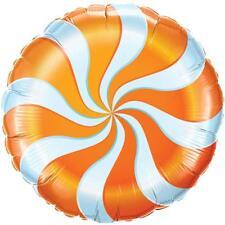 """Orange Candy Cane Swirl anniversaire Willy Wonka partie 18 """"foil balloon!"""