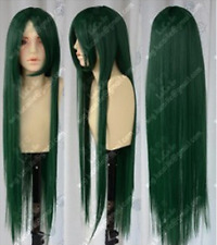 Hot Sell! COS New Long Dark Green Cosplay Party Wig N5