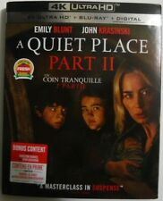 A Quiet Place Part II (4K UHD + Blu-ray + Digital + Slipcover, New & Sealed)