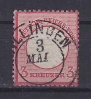 "DR - Stempel K2 ""VILLINGEN 3 MAI"" (Baden) auf MiNr. 25, 3 Kr. - bitte ansehen."