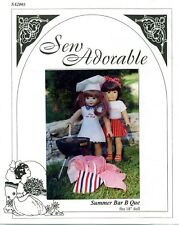 "Sew Adorable Doll Clothes Pattern, fits 18"" American Girl, Summer Bar B Que"