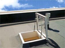 Flachdach-Ausstiegsfenster 80x80 x15 cm PVC/ Acryl-Lichtkuppel als CXP manuelle
