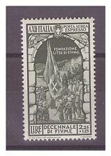 REGNO 1934  - POSTA AEREA  ANNESSIONE  FIUME   LIRE 2,25 + 1,25   -  NUOVO **