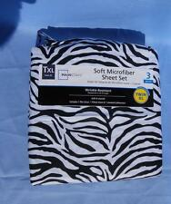 Mainstays Microfiber Sheet Set Twin XL Zebra Pattern 3 pieces NIP