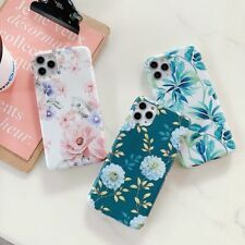 Glossy Printed Rose Flowers Cover Phone Case iPhone XR X XS 11 Pro Max 7 7S 8 8S