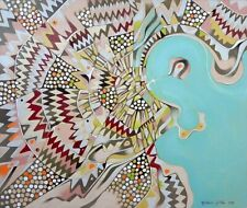 Mappa semi-immaginaria di Doha, Qatar. Dipinto ad olio su carta per belle arti