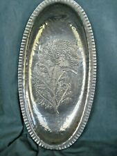 Vintage Hammered Aluminum Tray/Dish~Continental~Mum pattern~marked & numbered