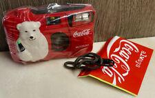 COCA-COLA 35mm Polar Bear Motorized Camera. NEW