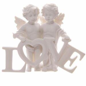 Angel Cherubs Holding LOVE Letters Decorative Ornament Figurine Gift UK