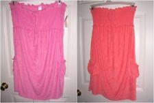 womens top loungewear BEACH  SHOWER swim cover up pink orange melon size S,M T30
