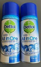 2X Dettol antibacterial Disinfectant Spray 400ml - CRISP LINEN all in one