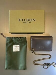 CC FILSON Workshop Sierra Brown Bridle Leather Chain Wallet - NEW 20085330