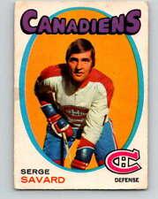 (HCW) 1971-72O-Pee-Chee #143 Serge Savard NHL  Canadiens 8838