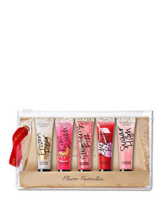 New Victorias Secret Holiday Flavored Lip Gloss Set In Case Set Of 5