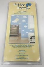 Kids Wall Decorations 20 Removable Stickers Self Stick Day Dream Clouds (New)