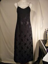 Equipment Ladies Dress in a Black Embossed Floral Pattern Size 6