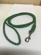 5.5 ft Handmade Paracord Dog Leash in Round Braid-Green & Brown