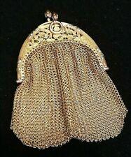 Porte monnaie ancien en maille plaqué or, aumonière