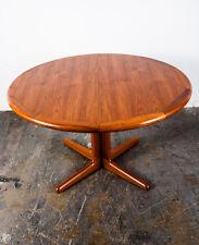 Mid Century Danish Modern Dining Table Teak Laurits M. Larsens Round Vintage M+