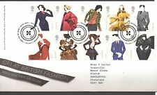 GB 2012 FDC Great British Fashion, Tallents House Edinburgh postmark set stamps