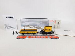 CU628-0,5# Märklin H0/AC 46715 Kranwagen + Schutzwagen Weiss fx/digital NEUW+OVP