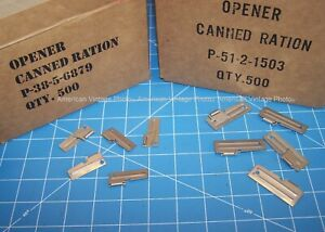 P38 & P51 Can Opener 10 Pack USA Shelby Stainless Hiking Camping Scout  Mess Kit