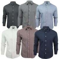 Mens Crosshatch New Oxford Almond Long Sleeved Shirt BNWT