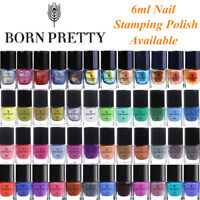 BORN PRETTY Nail Art Stamping Polish Plate Printing Colorful Chameleon Thermal