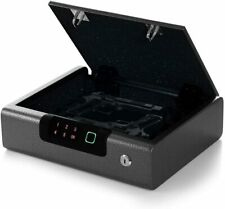 Pistol Gun Safe Box Secure Firearm Handgun Combination Lock Fingerprint Metal