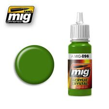 Ammo of Mig Jimenez Acrylic Color CRYSTAL PERISCOPE GREEN 17ml #0096