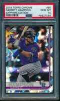 2019 Topps Chrome Sapphire Edition Garrett Hampson RC #85 PSA 10 Gem Mint Rookie