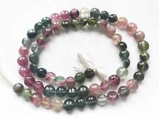 110ct Hand Polished Gem Quality Multi Colour Tourmaline Beads Strand T100