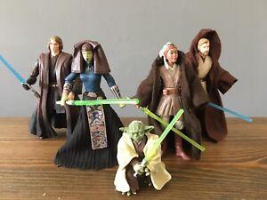 Star Wars Jedi Yoda Obi Wan Anakin Stass Allie Luminara Unduli Ti 3.75 Figures
