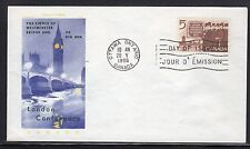 Canada #448 Fdc Chickering Jackson Cachet Address Label Removed a27