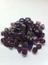 65 perles verre coeurs  facettes cristal creation bijoux violet